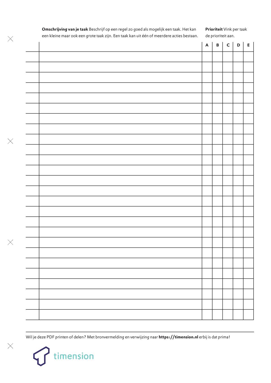Uitstelgedrag aanpakken formulier