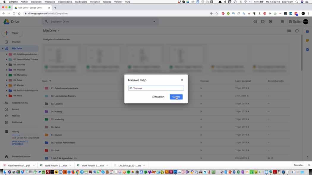 Mappen in Google Drive 005