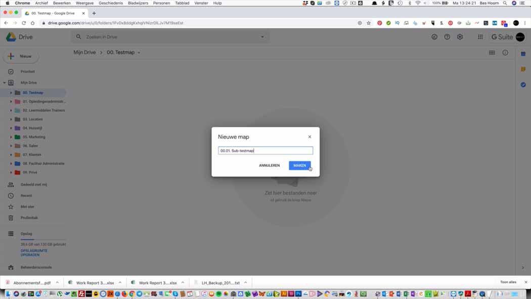 Mappen in Google Drive 010