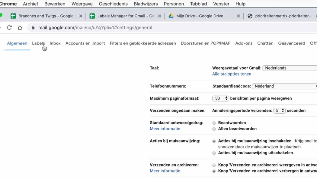 mappen maken in gmail